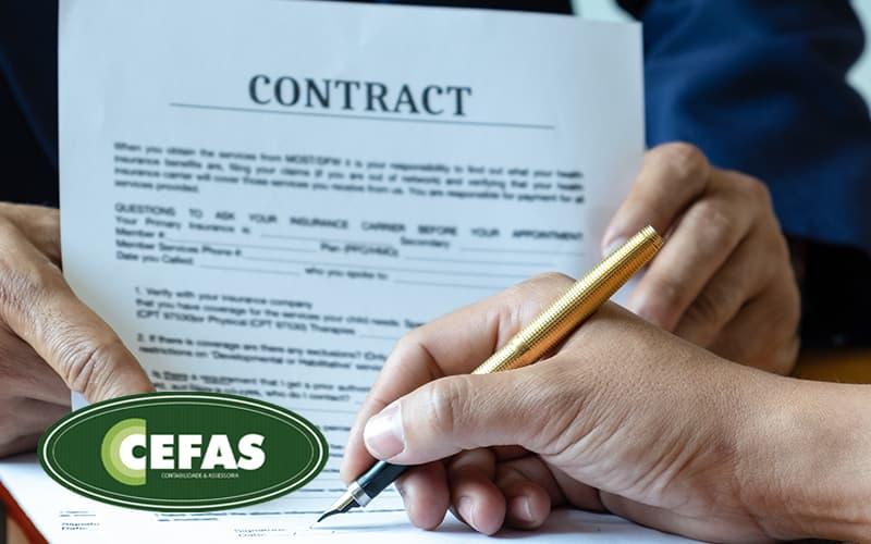 Modelo De Contrato De Prestacao De Servicos Mei Como Fazer O Seu Post (1) - Contabilidade em Santos - SP |  Cefas Contabilidade e Administração - Modelo de contrato de prestação de serviços MEI – Como fazer o seu?